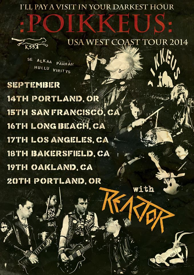 POIKKEUS West Coast Tour