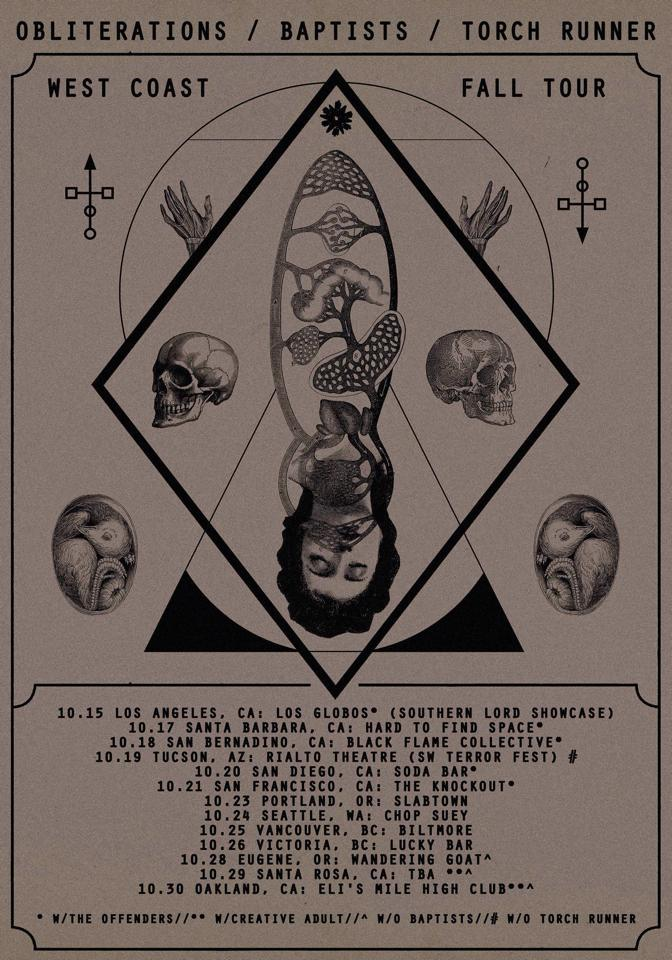 Obliterations, Baptists and Torch Runner Tour