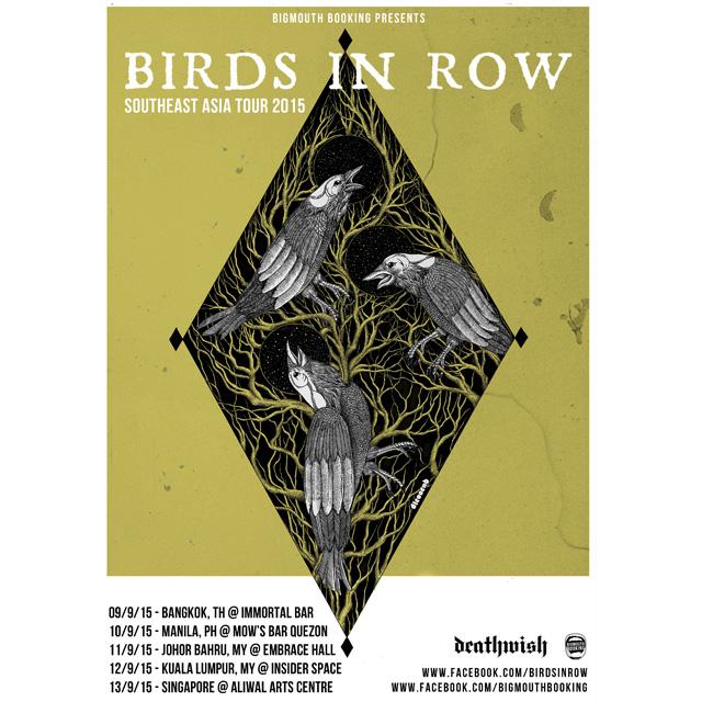 BIRDS IN ROW To Tour SE Asia