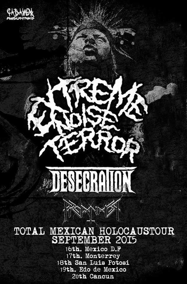 EXTREME NOISE TERROR Mexican Tour September 2015