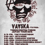 "VAASKA""All Against All"" Japan Tour 2016"