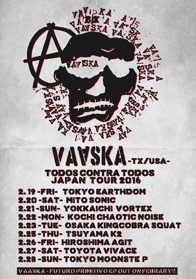 "VAASKA""All Against All"" Japan Tour 2016"