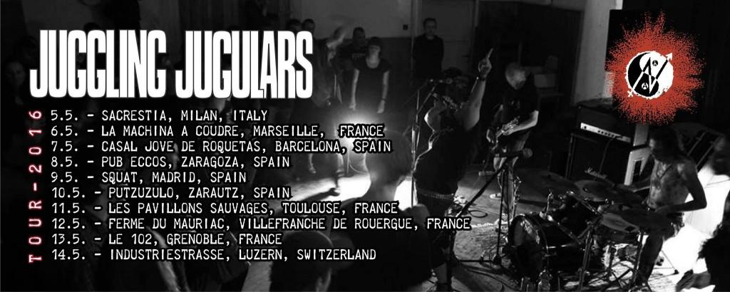JUGGLING JUGULARS Europe TOUR 2016