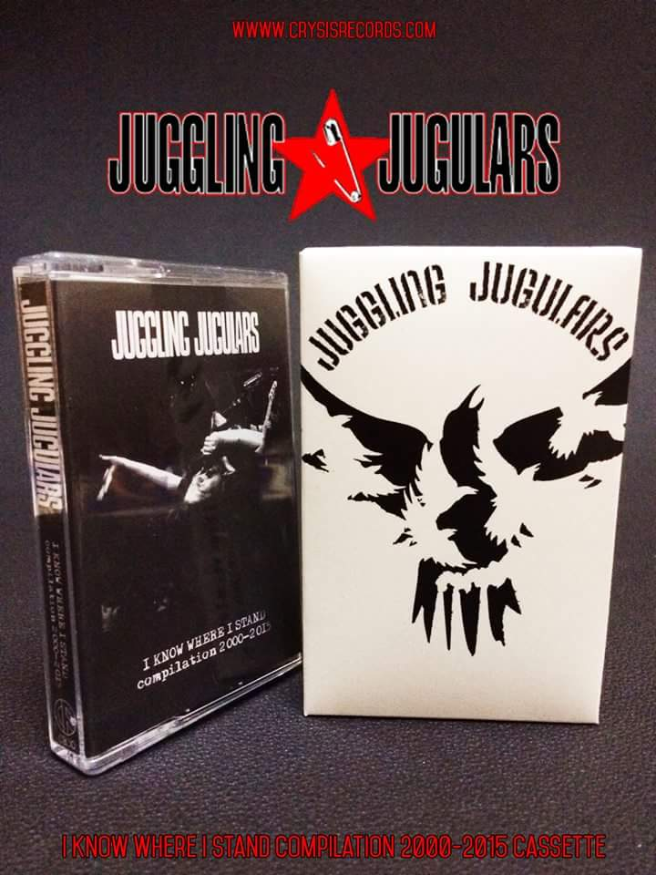 """JUGGLING JUGULARS – """"I Know Where I Stand"""" cassette"""