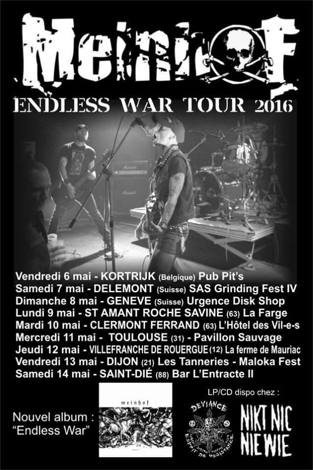 MEINHOF Embark on Endless War Tour