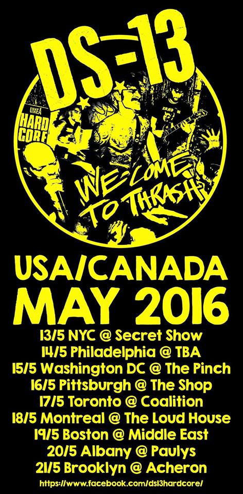 DS-13 US/Canada tour May 2016